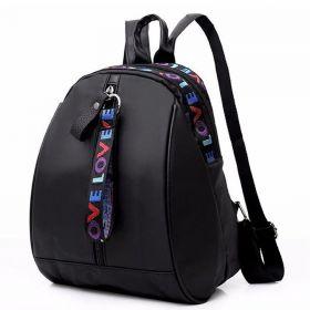 MINI batůžek s přívěšky LOVE Černý