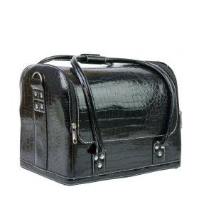 Luxusní taška pro kosmetiku MODEL 01 Černý krokodýl