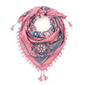 ArtOfPolo Lidová mandala šála 106cm Růžová