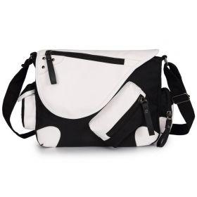 Unisex crossbody taška přes rameno Black and White