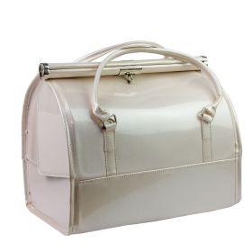 Luxusní kufřík pro kosmetiku MODEL12 Perlový