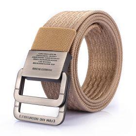Pánský plátěný pásek Military Combat- Khaki