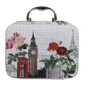 BMD kosmetický kufřík Kostka s krystaly LONDON
