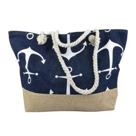 Designová Plážová taška Kotva námořnická