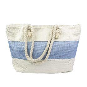 Designová Plážová taška Modrý pruh