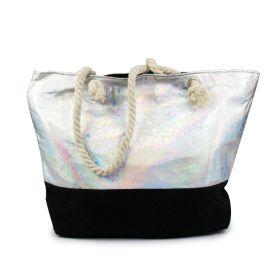 Designová Plážová taška Metalická Holo