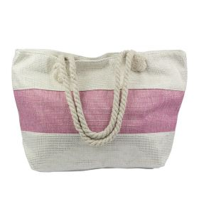 Designová Plážová taška Růžový pruh