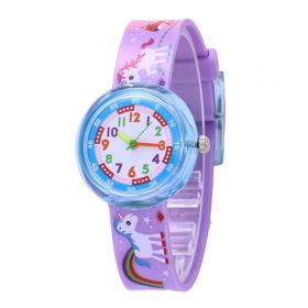 Dívčí silikonové hodinky Jednorožec