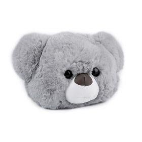 Kožešinová dětská kabelka Šedý medvídek