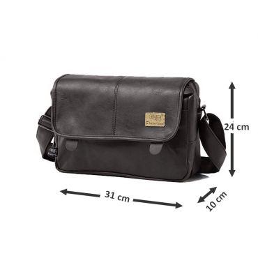Three Box pánská taška přes rameno PINIT černá