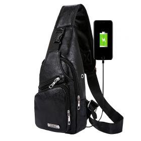Jinman taška přes hruď a crossbody s USB Černá