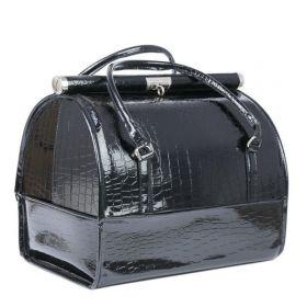 Luxusní kufřík pro kosmetiku MODEL12 Černý krokodýl