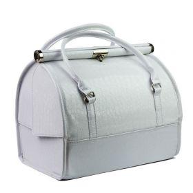 Luxusní kufřík pro kosmetiku MODEL12 Bílý krokodýl