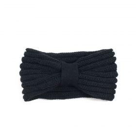 Dámská pletená zimní čelenka Černá