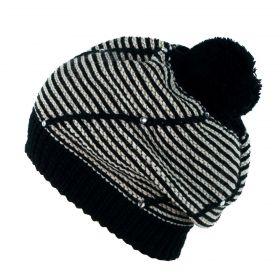 ArtOfPolo dámský baret s krystaly Černý