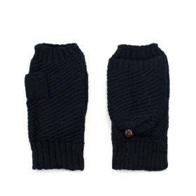 Bezprstové rukavice s klopou Helsinki Černé