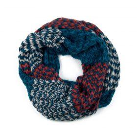 ArtOfPolo kruhový tunelový pletený šál Modrý