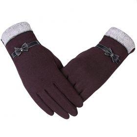 Dámské elegantní rukavice Hnědé