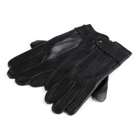 Pánské kožené rukavice Černé