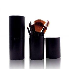 Set 12 kusů kosmetických štětců v tubě Černé