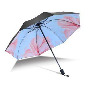 Dámský skládací deštník Modrý květ