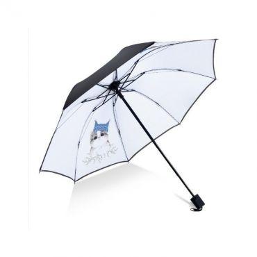 Dámský skládací deštník Bílý koťátko