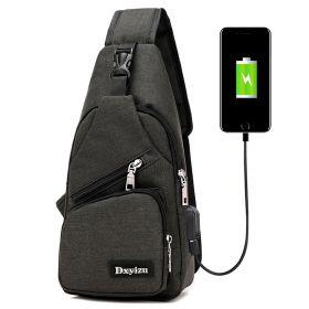 DXY Pásnká taška přes hruď a crossbody s USB Černá