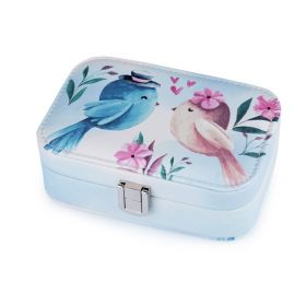 Malá šperkovnice s ptáčky Modrá