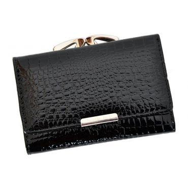 Jennifer dámská kožená peněženka Černá