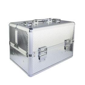 Kosmetický kufřík pro laky i led lampu Stříbrný