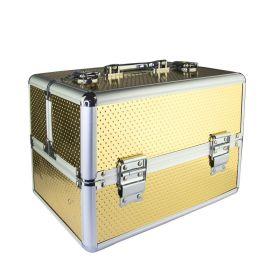 Kosmetický kufřík pro laky i led lampu Zlatý