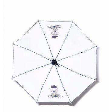 Dámský skládací deštník Bílý pejsek