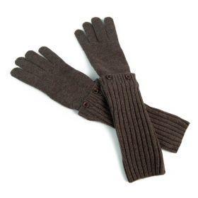 ArtOfPolo dlouhé rukavice Dublin Hnědé