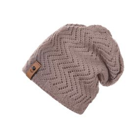 Dámská pletená čepice Béžová