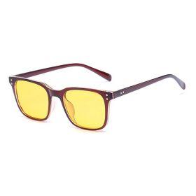 Brýle na počítač pro hráče Anti Blue Ray YWEC9- hnědé