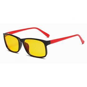 Brýle s filtrem modrého světla bez dioptrii KWE12- Červené