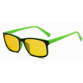 Brýle s filtrem modrého světla bez dioptrii KWE14- Zelené