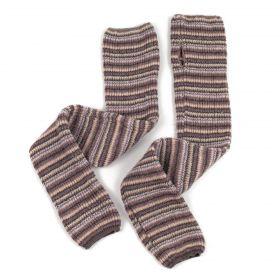 Dlouhé vlněné rukavice bez prstů Béžové