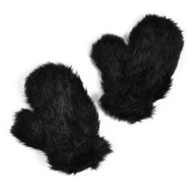 ArtOfPolo dámské chlupaté rukavice Nuuk Černé
