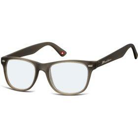 Brýle blokující modré světlo na počítač bez dioptrii MX67 šedé