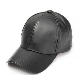 Dámská kožená kšiltovka Černá