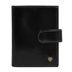 Rovicky kožená peněženka na doklady RFID Černé