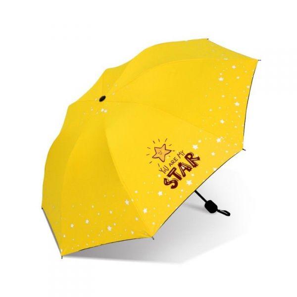 Dívčí skládací deštník STAR žlutý