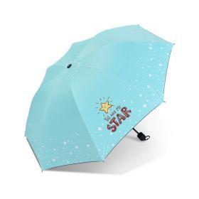 Dívčí skládací deštník STAR tyrkysový