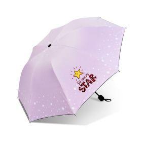 Dívčí skládací deštník STAR růžový