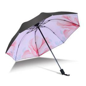 Dámský skládací deštník Růžový květ