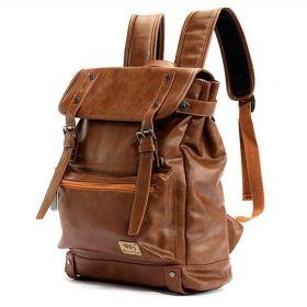 Three Box pánský batoh Vintage man Hnědý