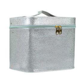 BMD kosmetický kufřík Sparkling stříbrný