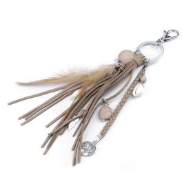 Přívěsek na kabelku i klíče strom života a pírko