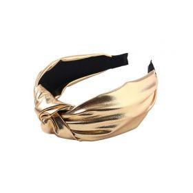 Čelenka do vlasů turban Zlatá